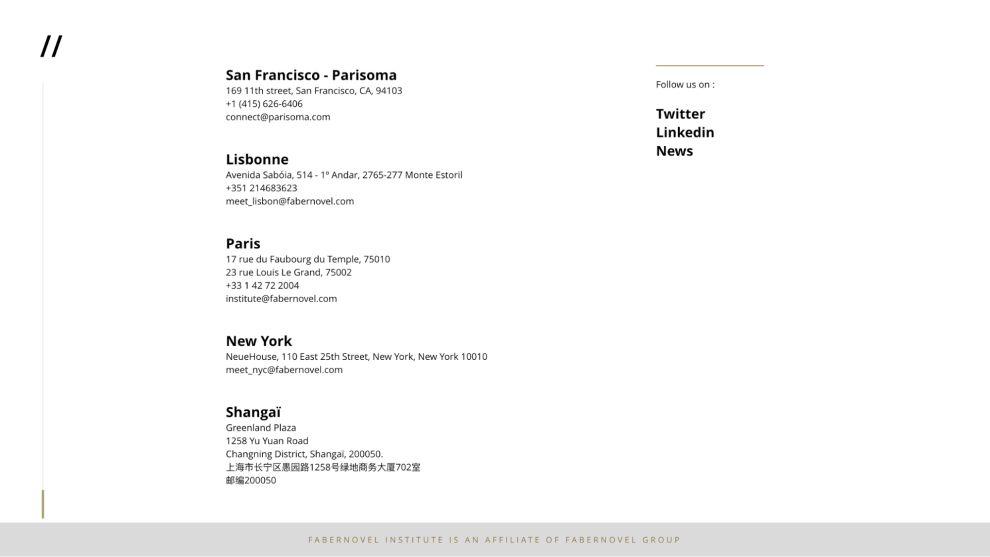 Faber Novel Minimal Website Design