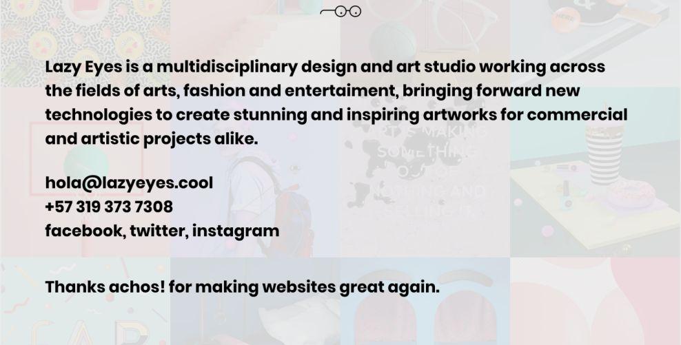 Lazy Eyes Gorgeous Website Design