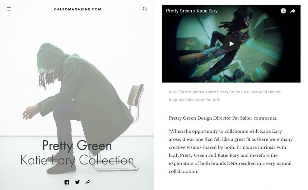Caleo Magazine Great Website Design
