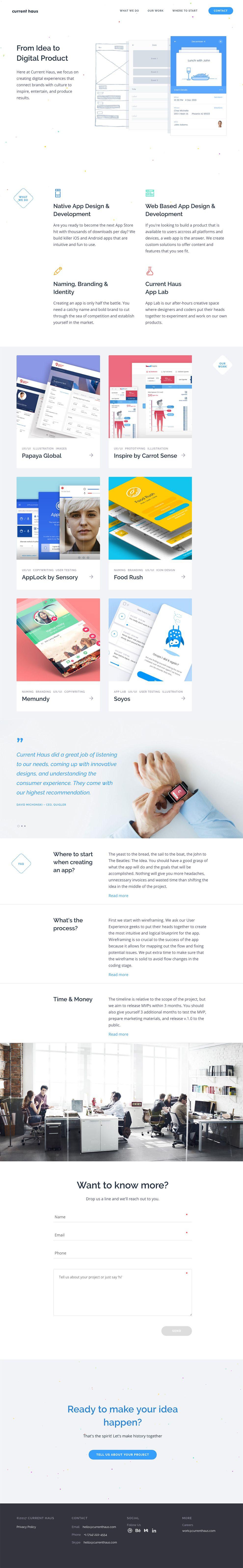 Current Haus Clean Website Design