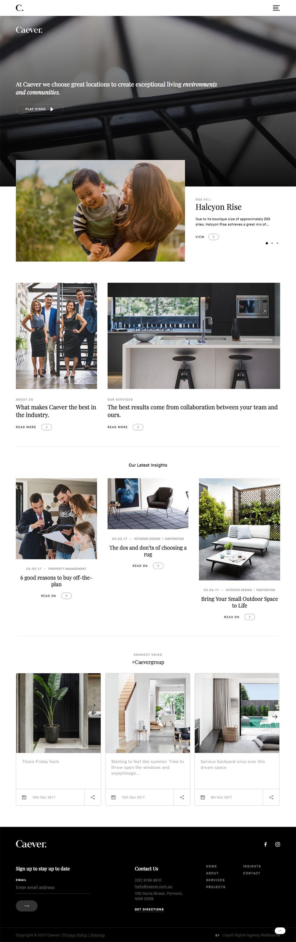 Caever Clean Website Design