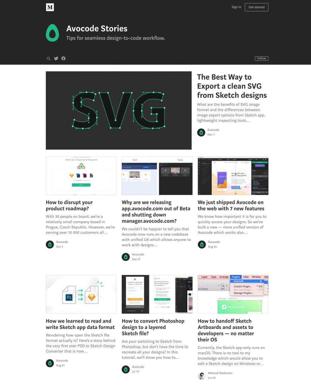 Avocode Clean Blog Design