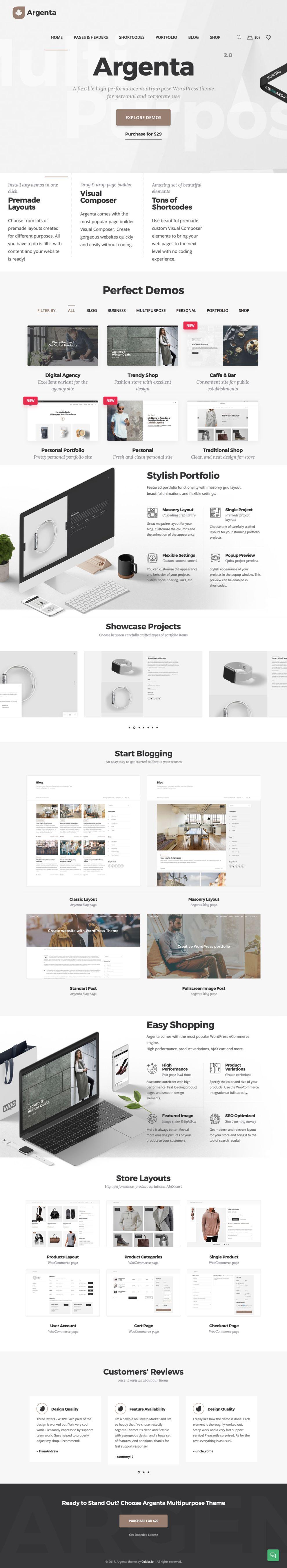 Argenta Corporate Homepage