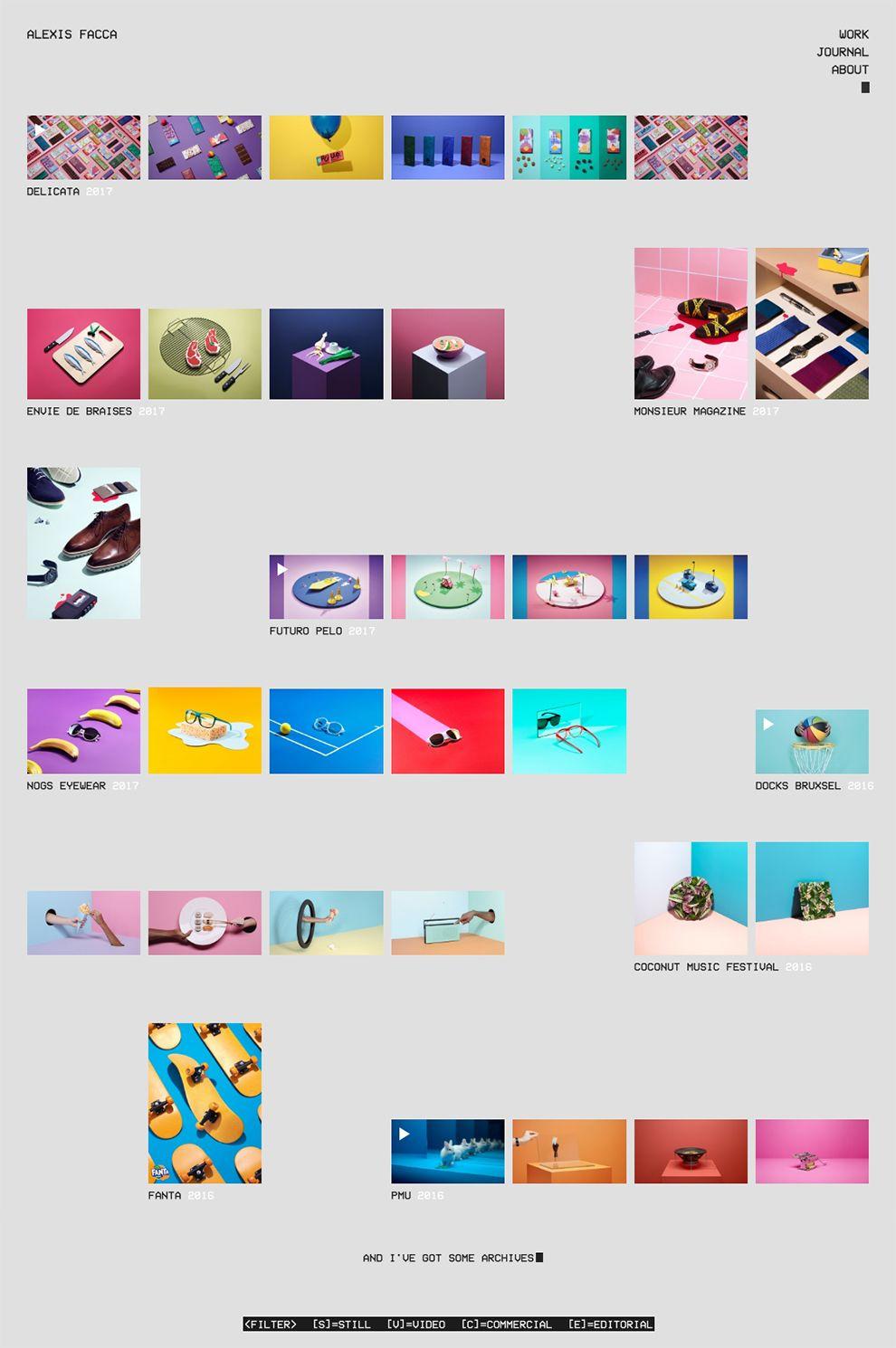 Alexis Facca Minimal Homepage Design
