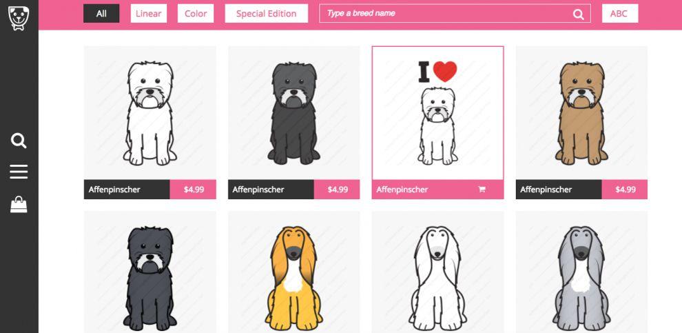 Dog Breed Cartoon Great Website Design