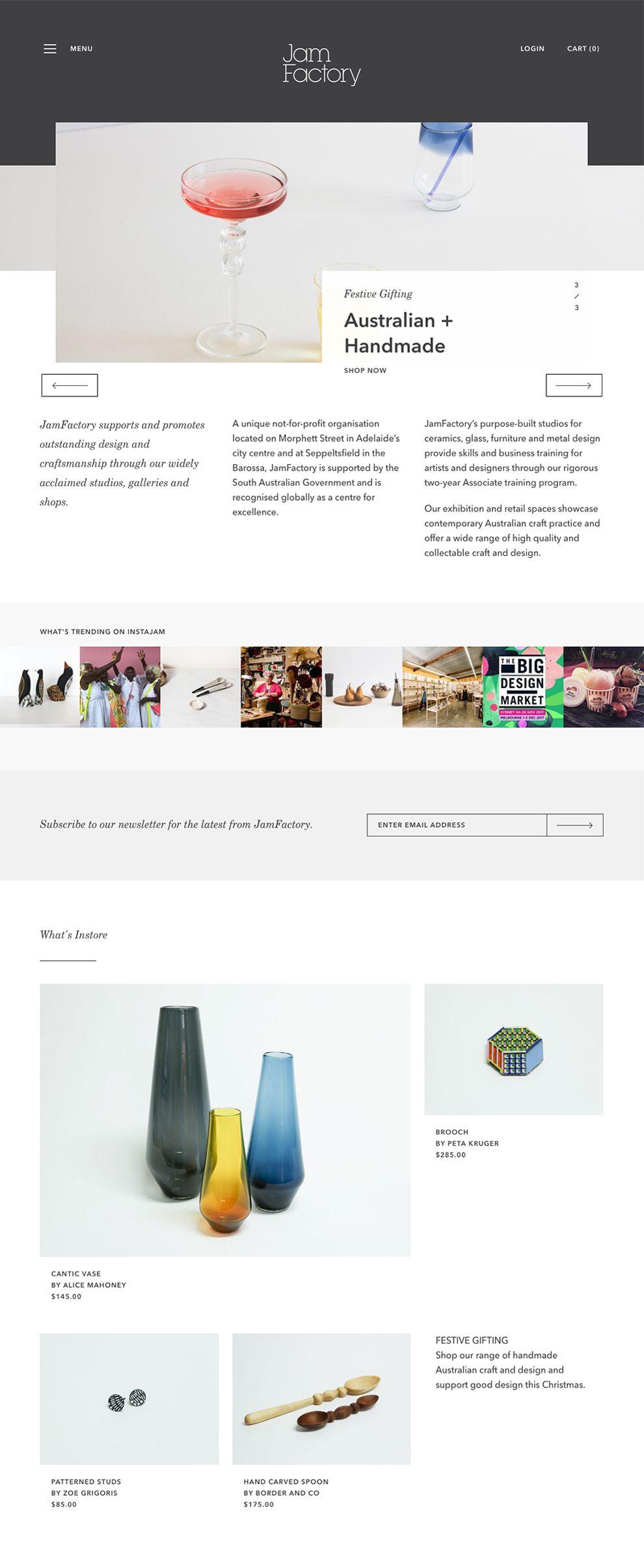 Jam Factory Elegant Homepage