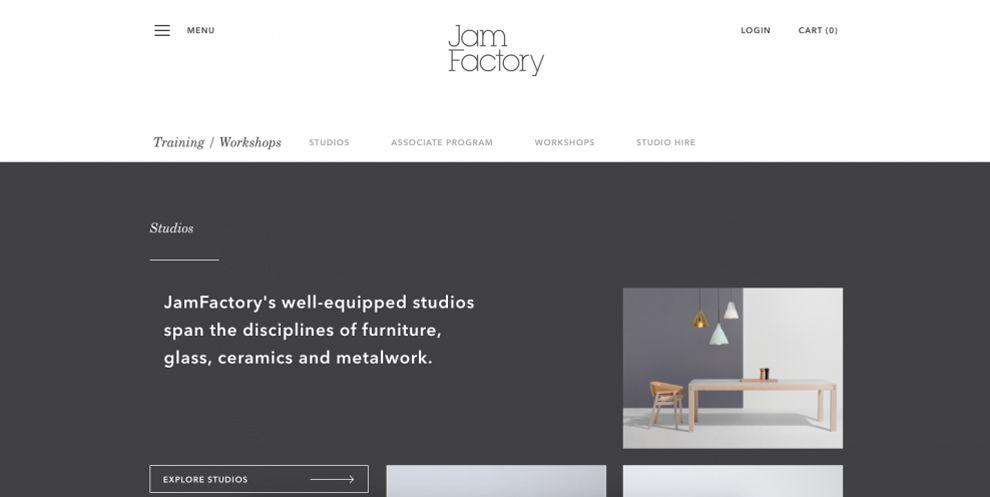 Jam Factory Elegant Website Design