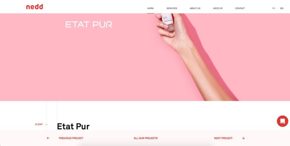Nedd Minimal Website Design