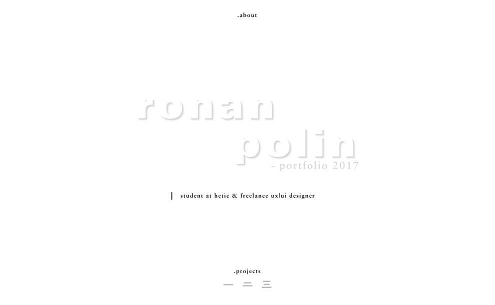 Ronan Polin Clean Homepage