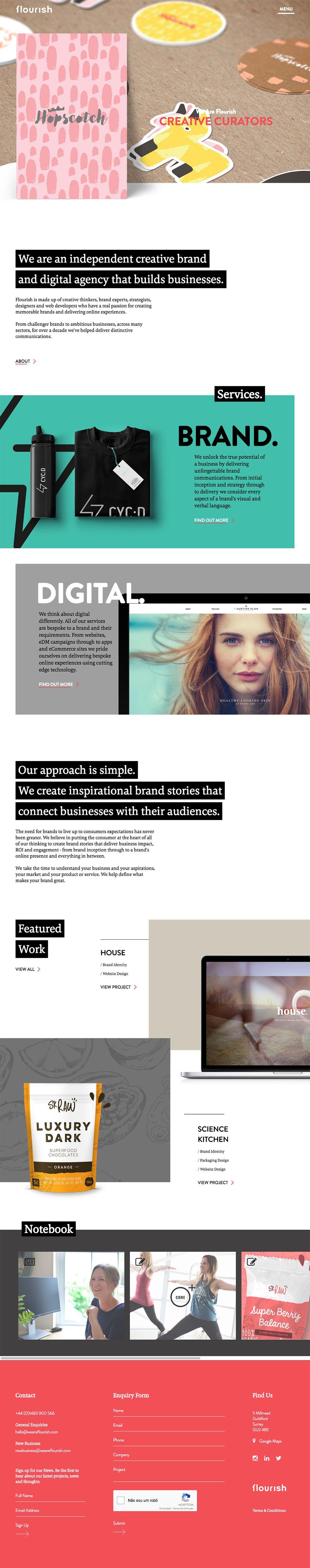 Flourish Clean Homepage
