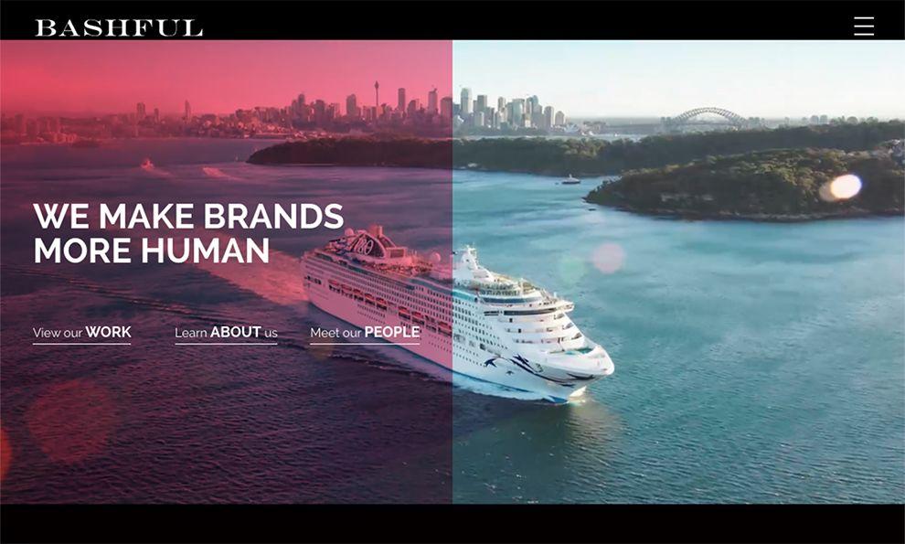 Bashful Creative Agency Beautiful Homepage