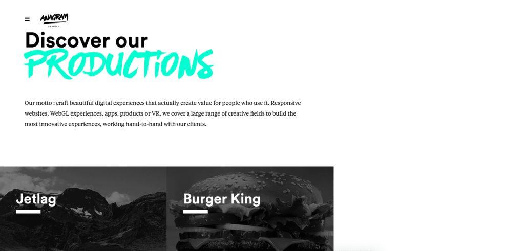 Anagram.Paris Clean Website Design