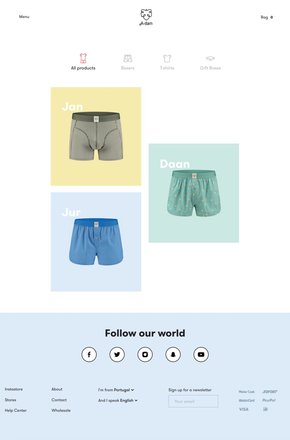 A-dam Colorful Product Page