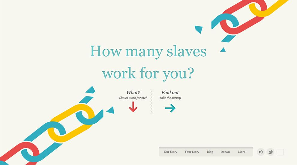 Slavery Footprint Colorful Homepage