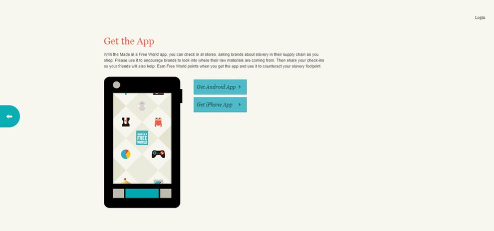 Slavery Footprint Colorful Website Design