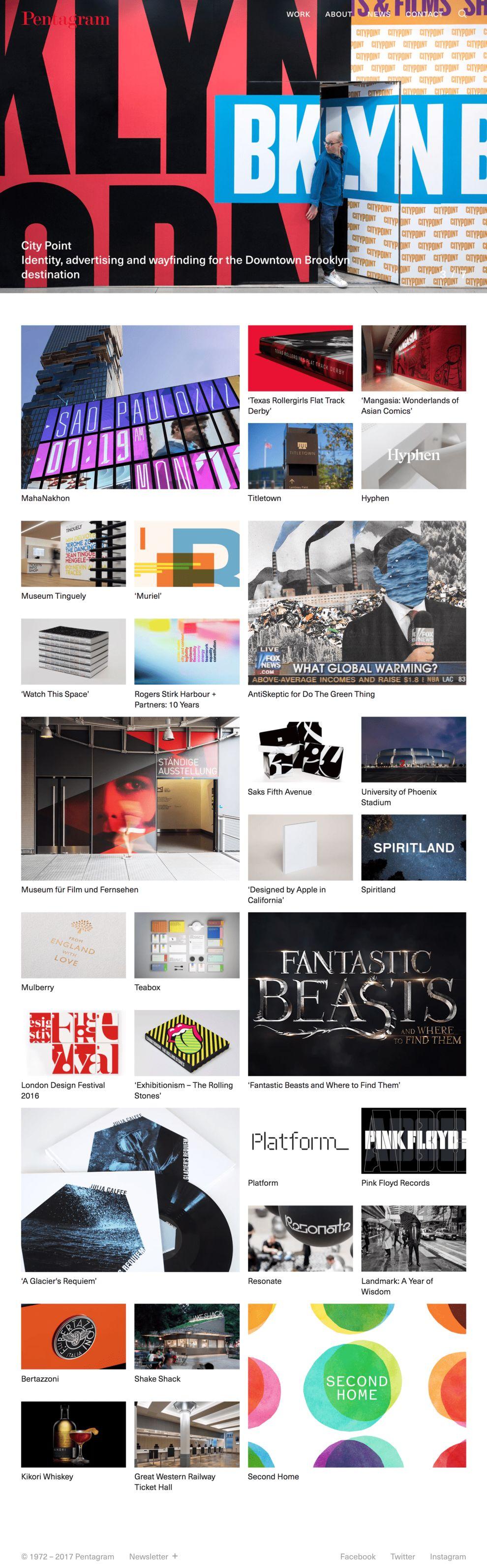 Pentagram Clean Homepage