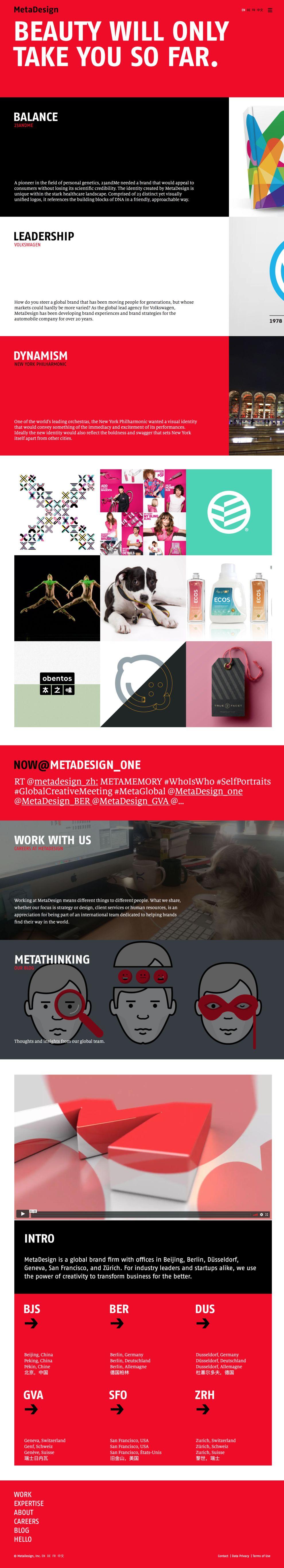 MetaDesign Colorful Homepage