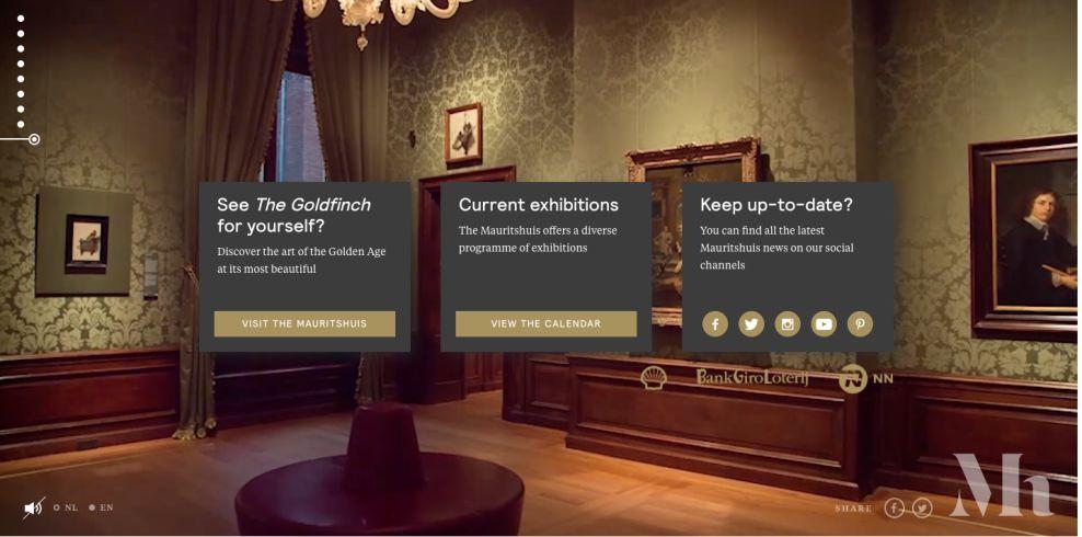 Mauritshuis Beautiful Website Design