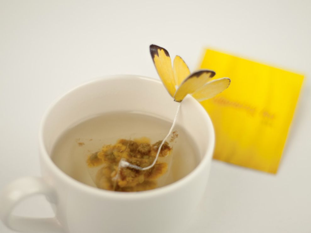 Butterfly Tea Playful Package Design