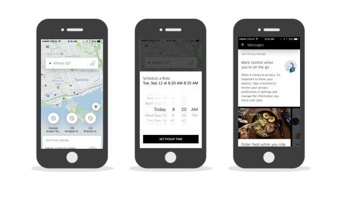 Uber Minimalist App Design