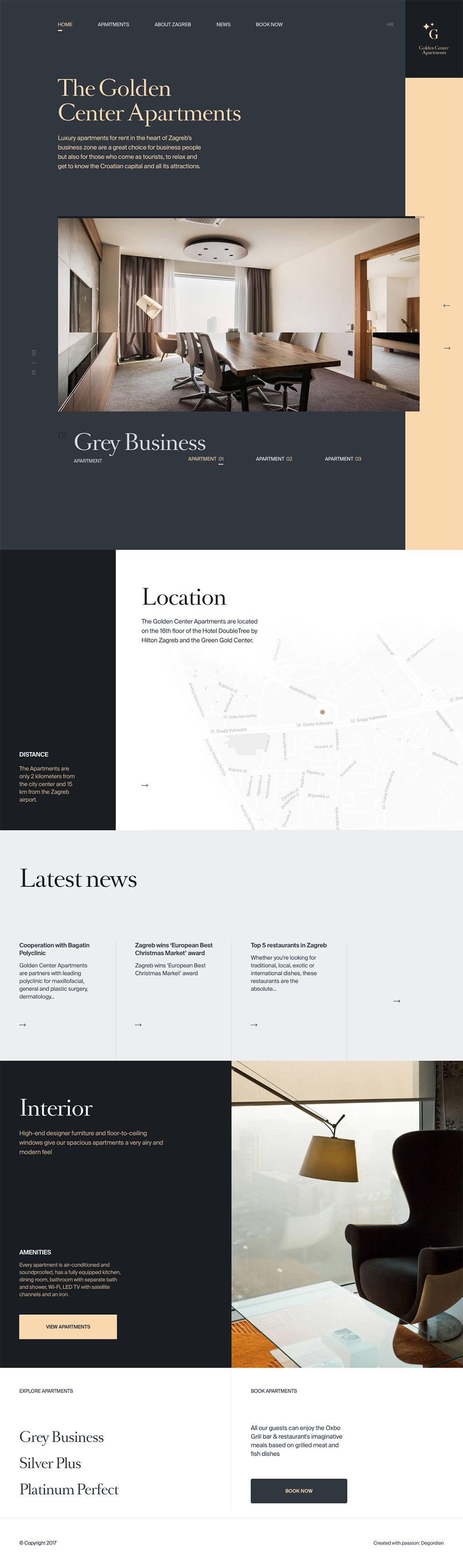 Golden Center Elegant Homepage