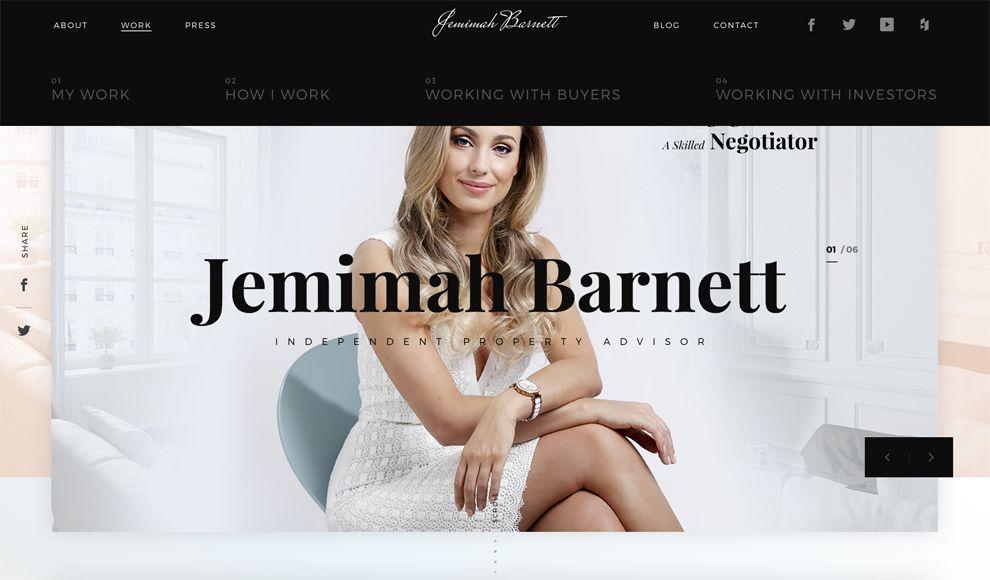 Jemimah Barnett Elegant Menu Design
