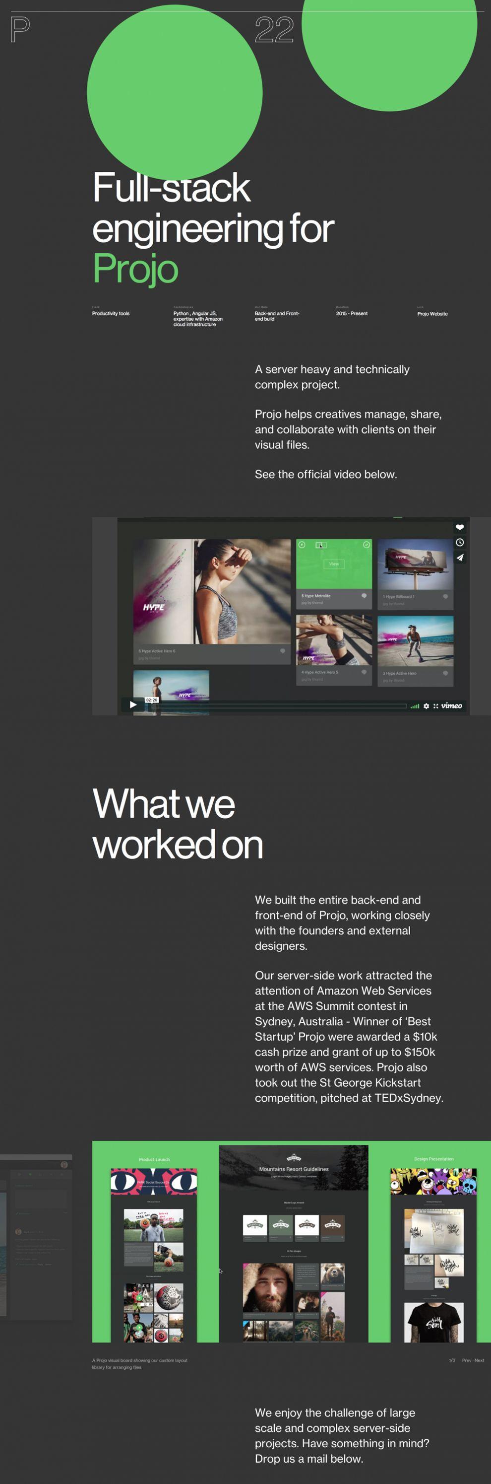 P22 Minimal Website Design