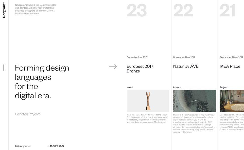 Norgram Minimal Homepage