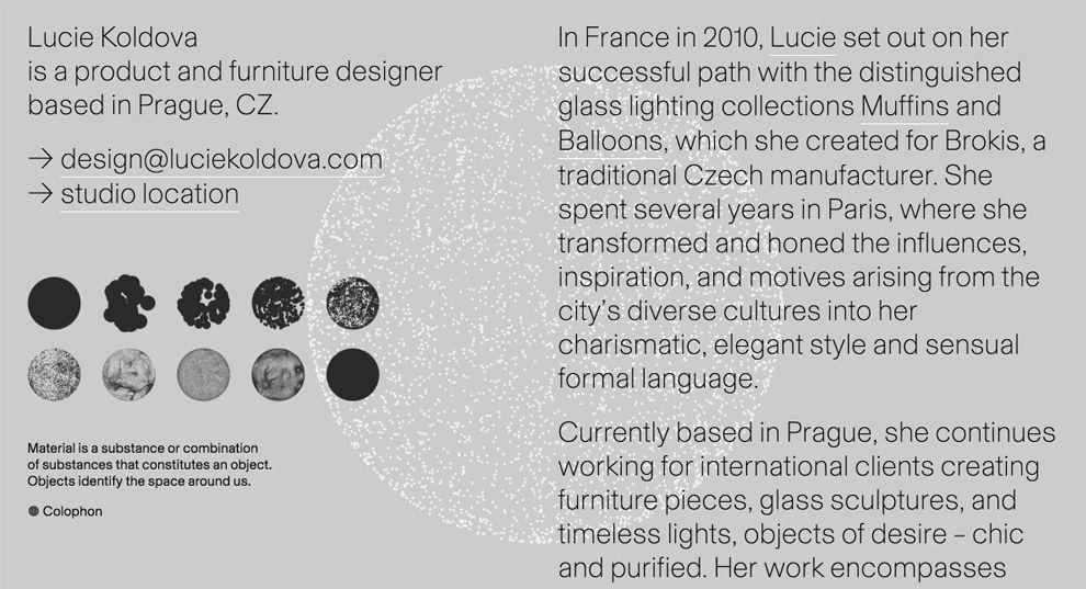 Lucie Koldova Stunning About Page