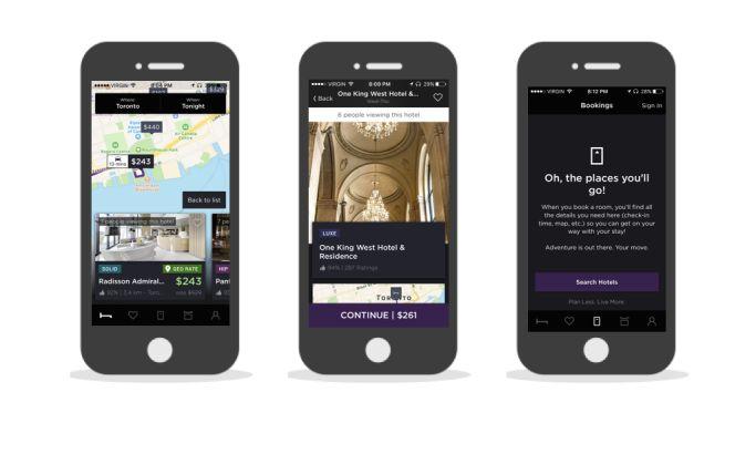 Hotel Tonight Modern App Design