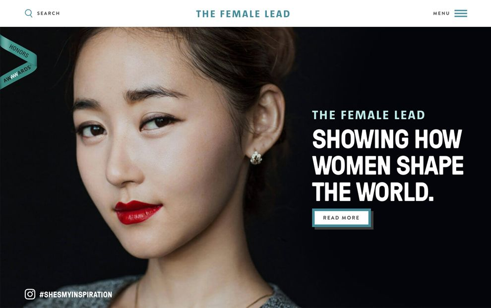 The Female Lead Clean Homepage