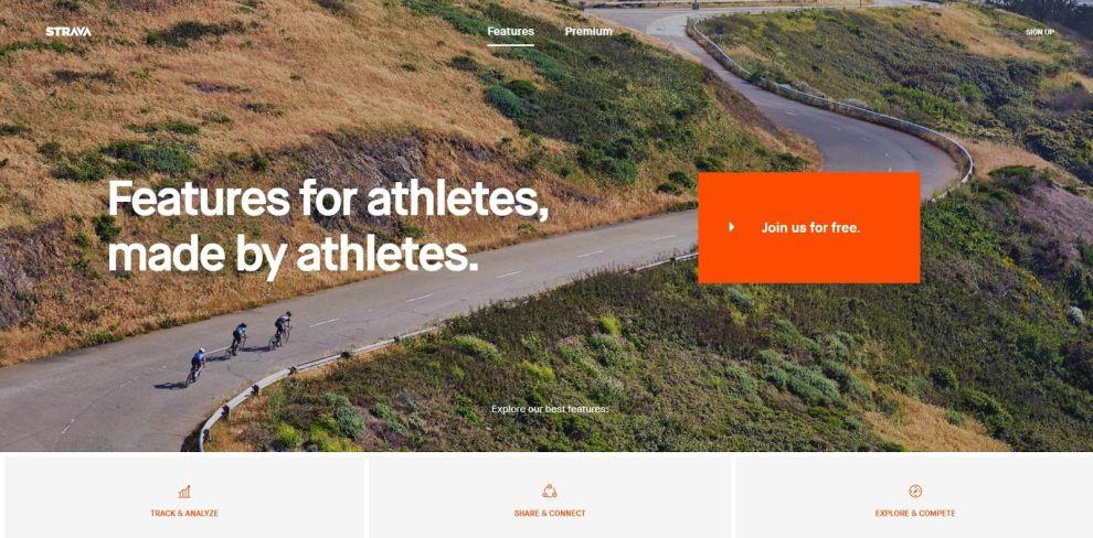 Strava Clean Website Design