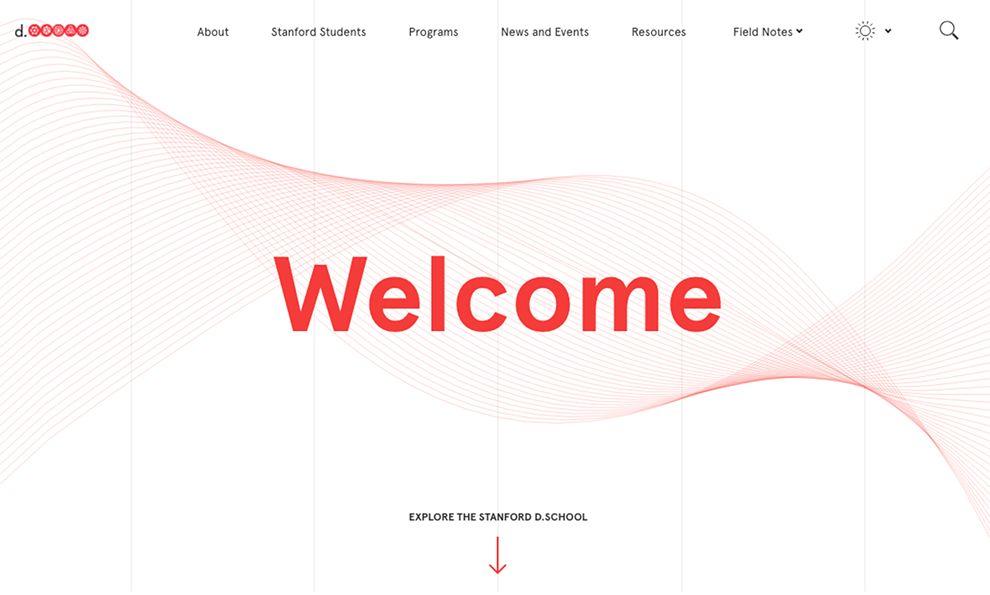 Stanford D-School Clean Homepage