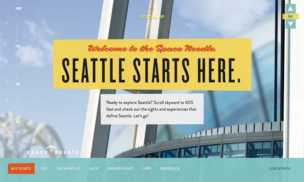 Space Needle Awesome Homepage