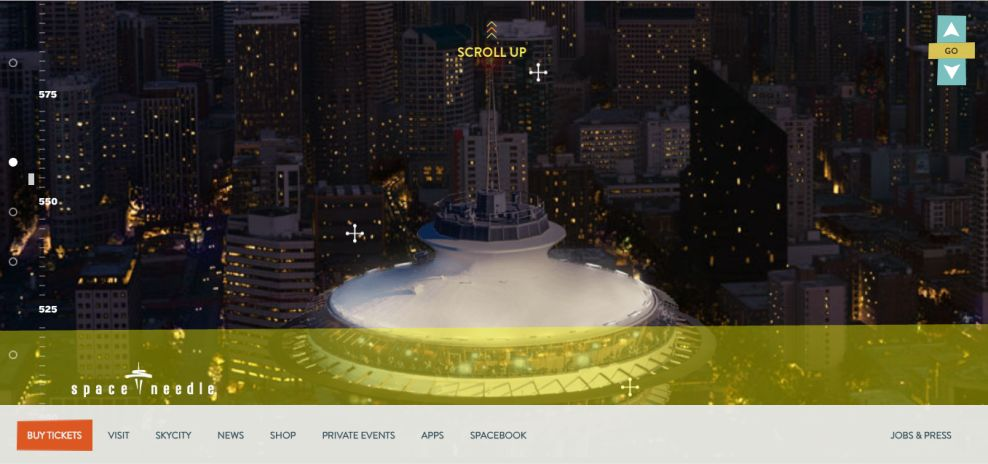 Space Needle Awesome Website Design