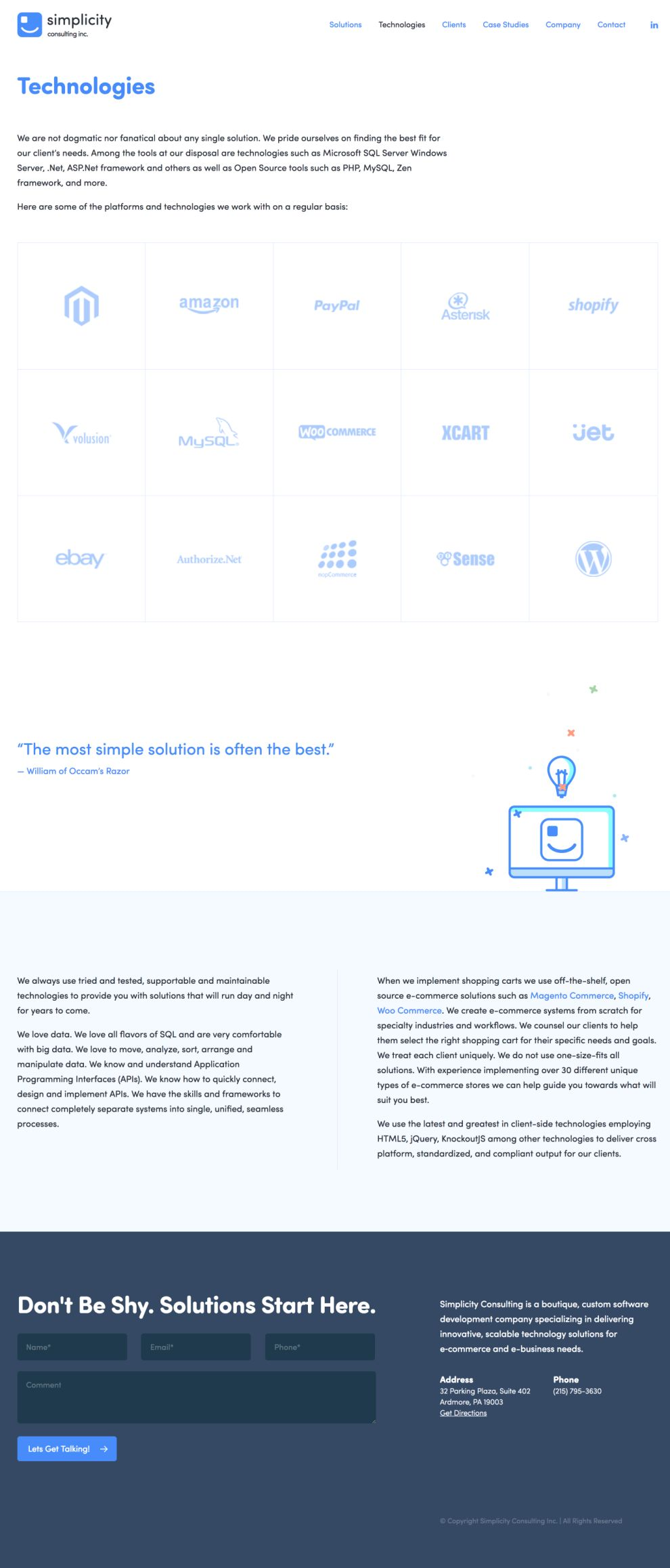 Simplicity Consulting Clean About Page
