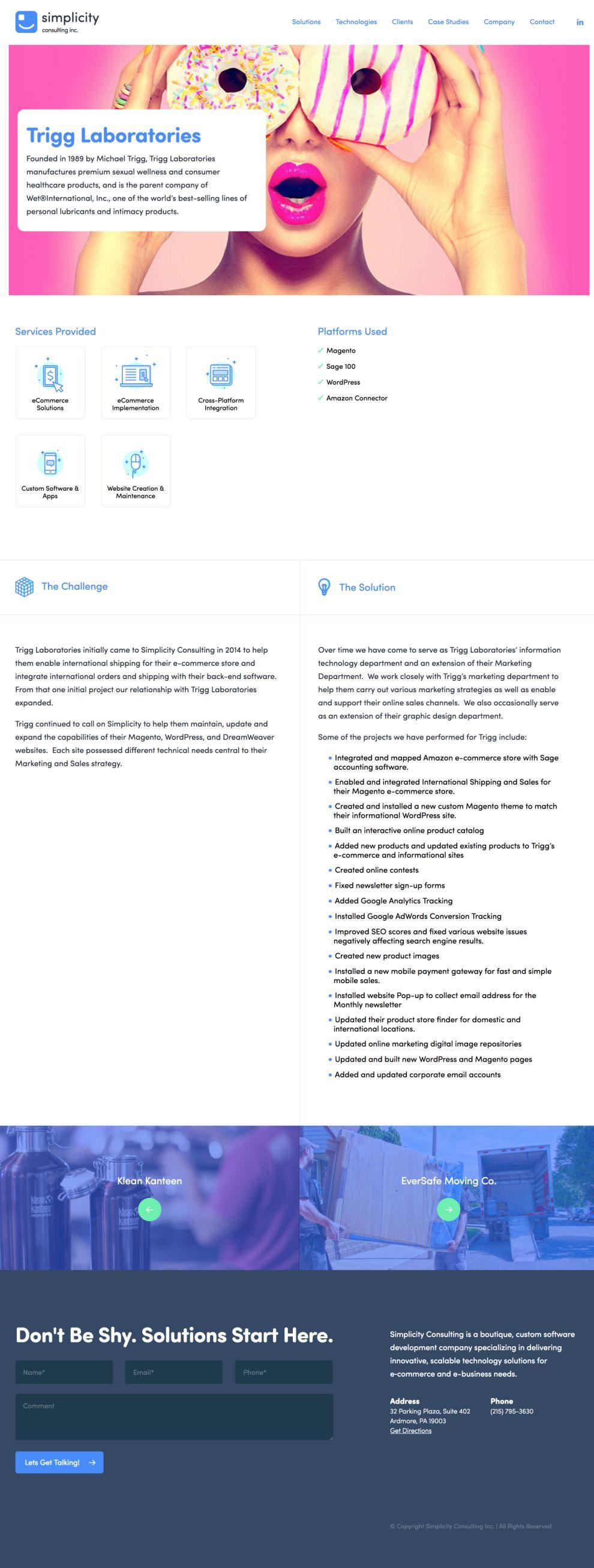 Simplicity Consulting Clean Website Design