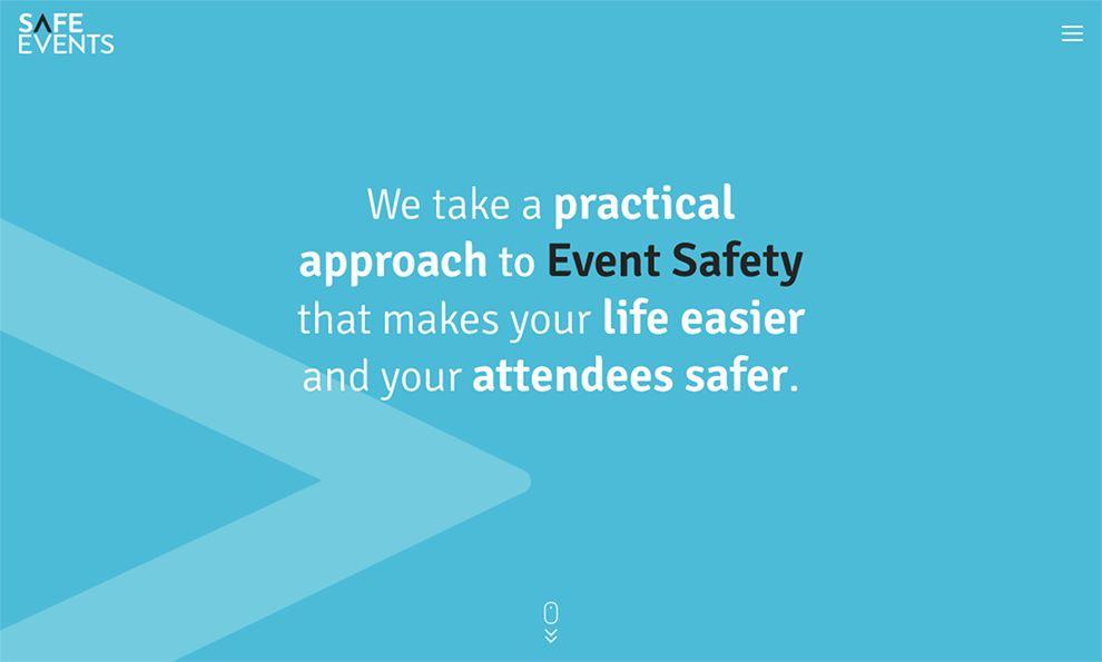 Safe Events Minimal Homepage