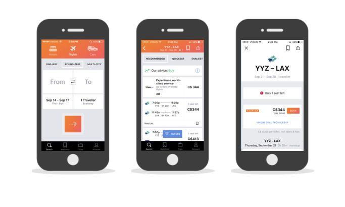 Kayak Minimal App Design