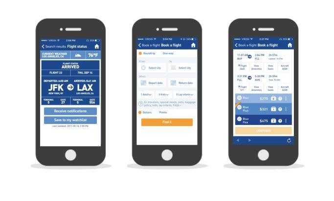 JetBlue Professional App Design