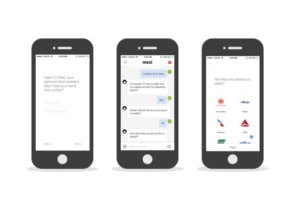 Mezi Minimalist App Design