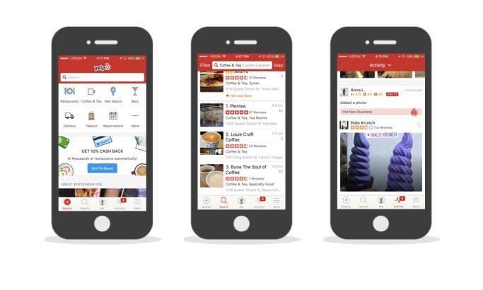Yelp Top App Design