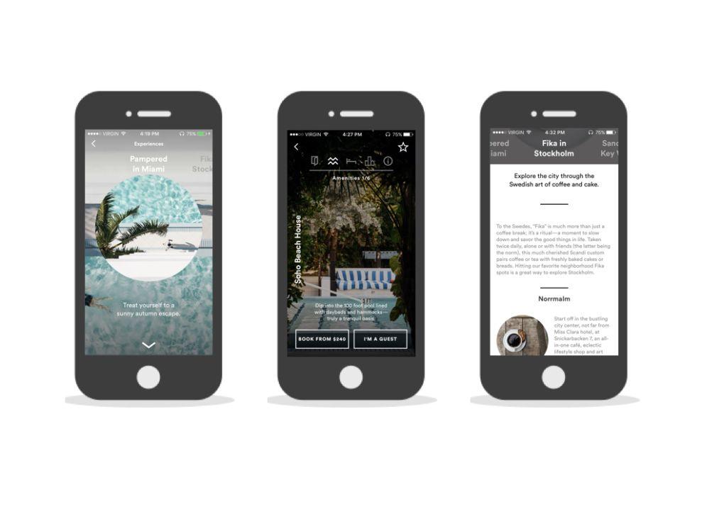 Porter & Sail Top App Design