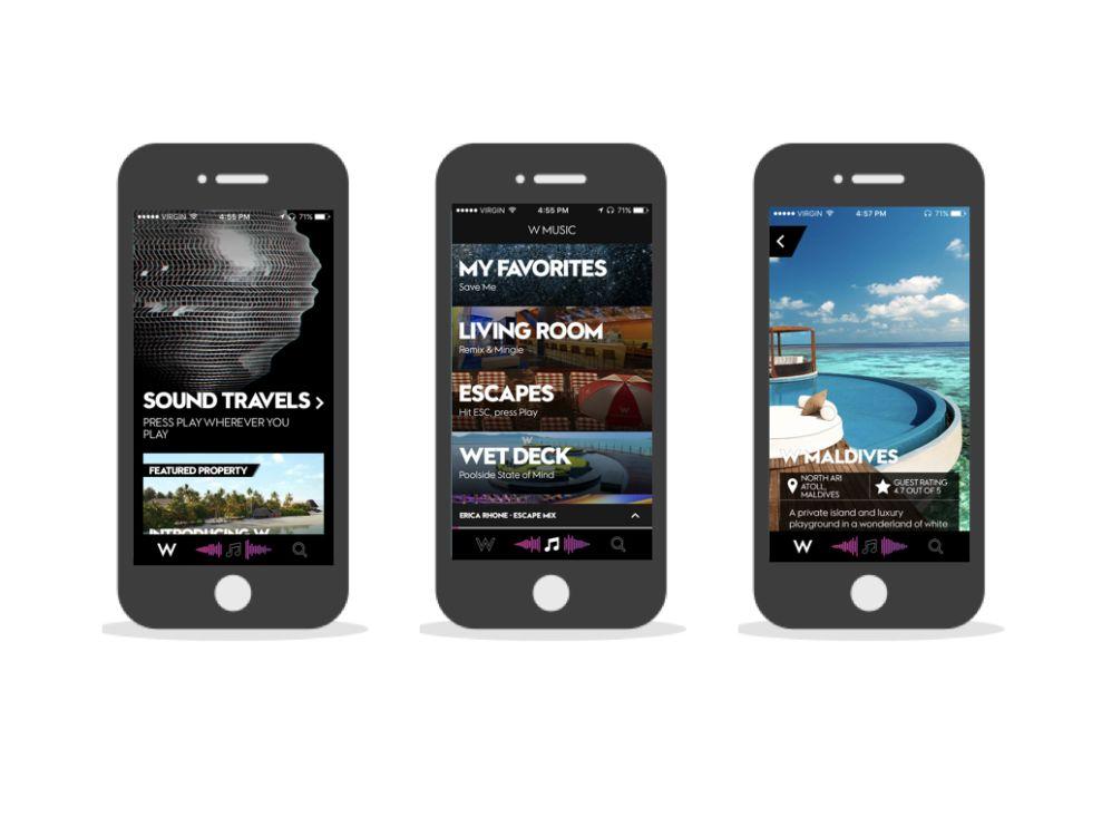 W Hotels Modern App Design