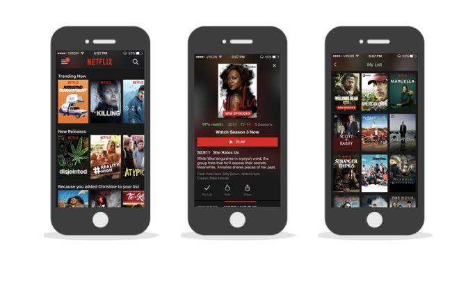 Netflix iPhone App Design