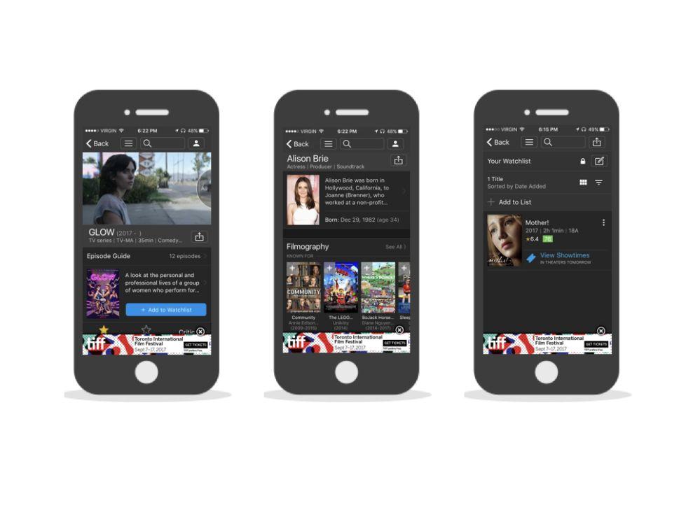 IMDb Engaging App Design
