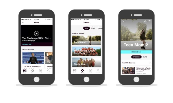 MTV Clean App Design
