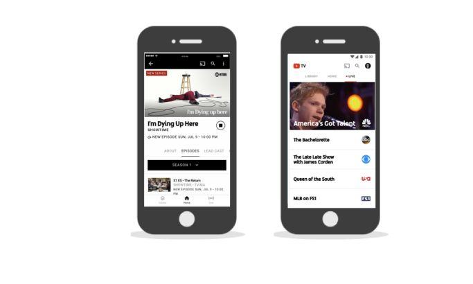 YouTube TV Contemporary App Design