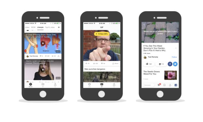 TopBuzz Video Clean App Design