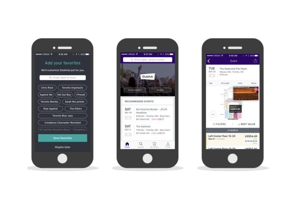 Stubhub User-Friendly App Design